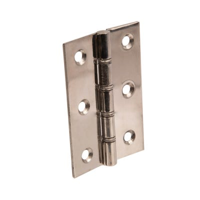 Stainless Steel Washer Butt Hinges 76 X 51mm Polished Chrome Pair