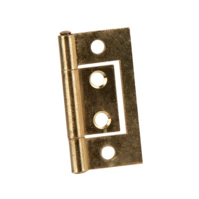 Flush Hinges 40mm Brass Pair