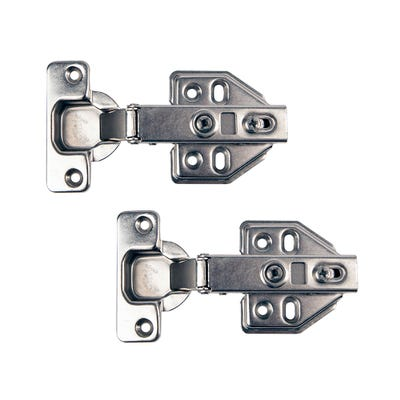 Sprung Clip On Cabinet Hinges 35mm Pair