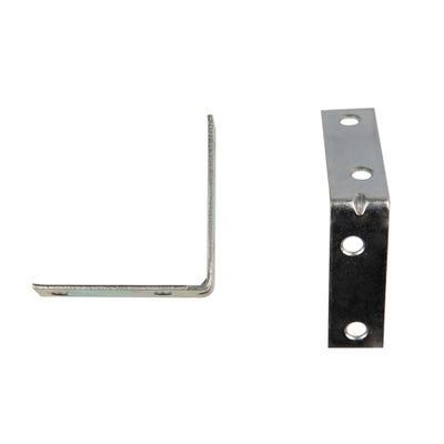 L Bracket Corner Brace 50mm Bright Zinc Pack Of 6
