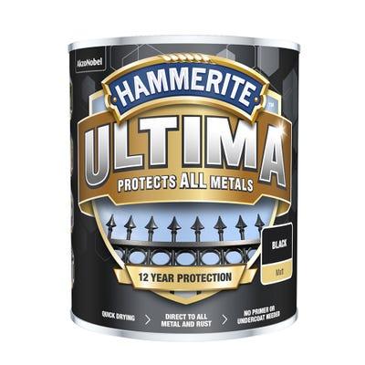 Hammerite Ultima Metal Matt Black 750ml