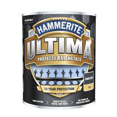 Hammerite Ultima Metal Matt Dark Grey 750ml