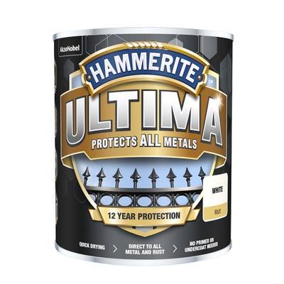 Hammerite Ultima Metal Matt White 750ml