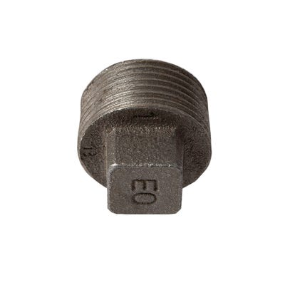 Malleable Black Iron Plug 1''