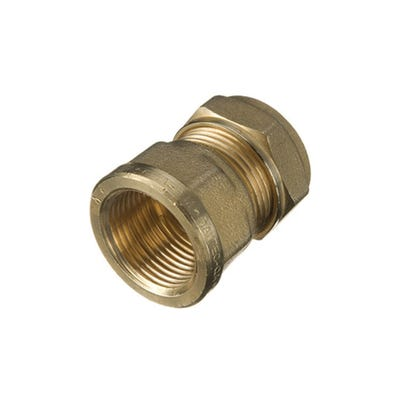 Compression Female Coupling 22mm x ¾''