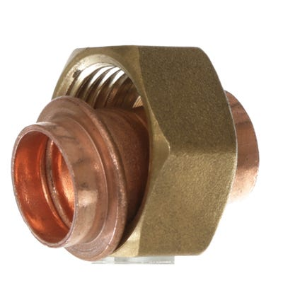End Feed Straight Tap Connector 15mm x ¾''