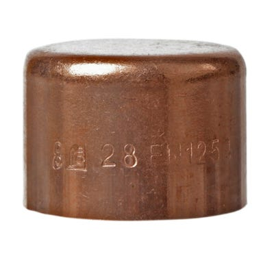 End Feed End Cap 28mm