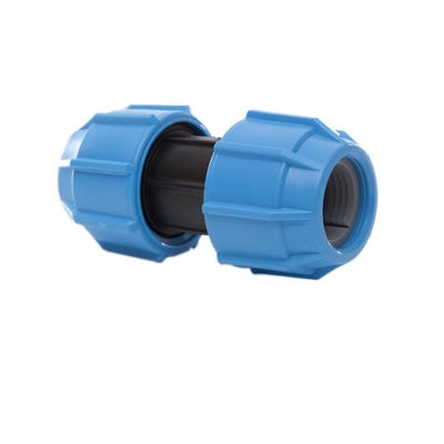 25mm Polypipe Polyfast Straight Coupler 40025