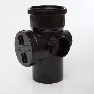 110mm Polypipe Access Pipe Single Socket Black SA43B