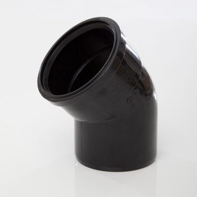 110mm Polypipe 135° Bend Single Socket Black SB412B
