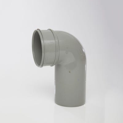 110mm Polypipe 90° Close Couple Bend Single Socket Grey SWB47SG