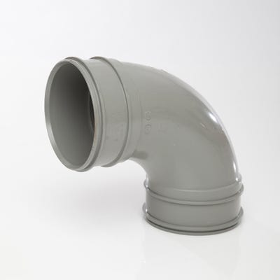 110mm Polypipe 92.5° Bend Double Socket Grey SWB22SG