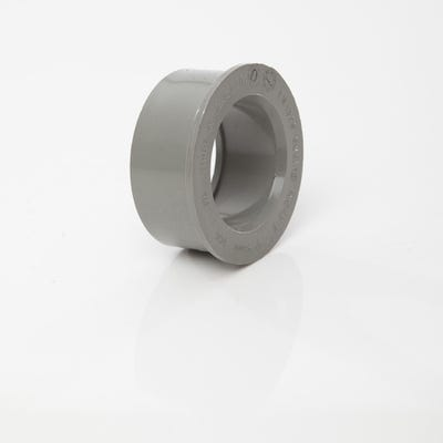 40mm Polypipe Soil Solvent Boss Adaptor Grey For ABS & MuPVC SW81G