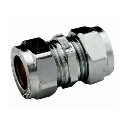 Compression Chrome Coupling 22mm