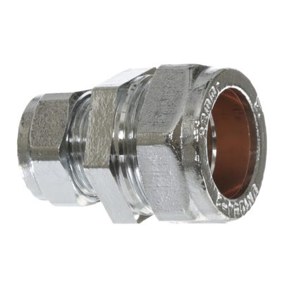 Compression Chrome Reducing Coupling 22mm x 15mm