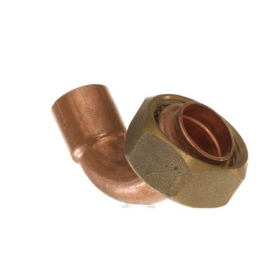 End Feed Bent Tap Connector 15mm x ¾''