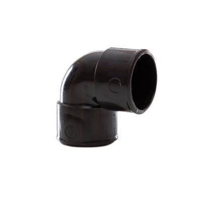 32mm Polypipe 90° Waste Knuckle Bend Black MuPVC MU112B