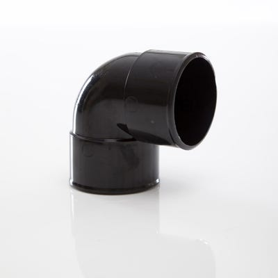 50mm Polypipe 90° Waste Knuckle Bend Black MuPVC MU312B