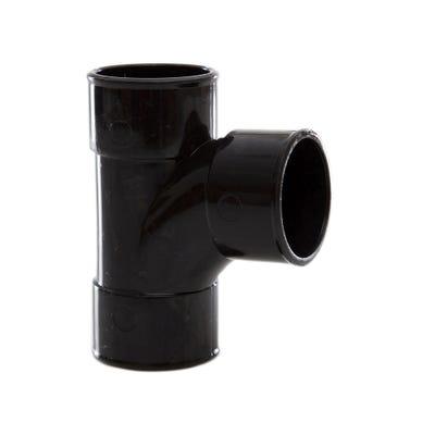 40mm Polypipe 92.5° Waste Swept Tee Black MuPVC MU216B
