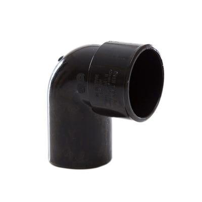 40mm Polypipe 90° Waste Conversion Bend Black MuPVC MU221B