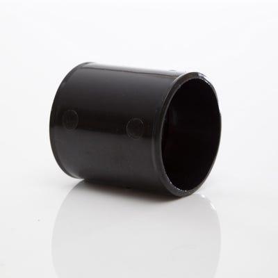 50mm Polypipe Waste Straight Coupling Black MuPVC MU310B