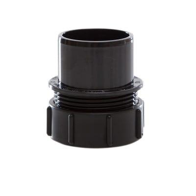 40mm Polypipe Waste Screwed Access Plug Black MuPVC MU219B
