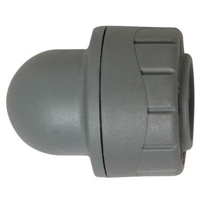 22mm Polypipe Polyplumb Socket Blank End Grey PB1922