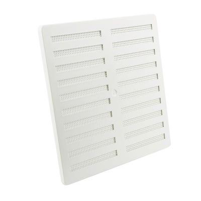 Manrose 229mm x 229mm White PVC Adjustable Vent