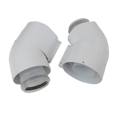 Vaillant Ecotec Flue 45° Elbow 303911 Pack 2