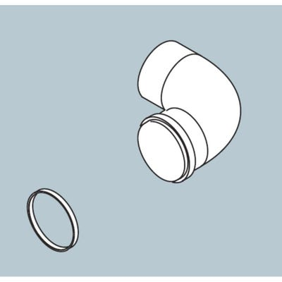 Biasi HE Twin Horizontal Flue Elbow - 90° Bend x 80mm Diameter