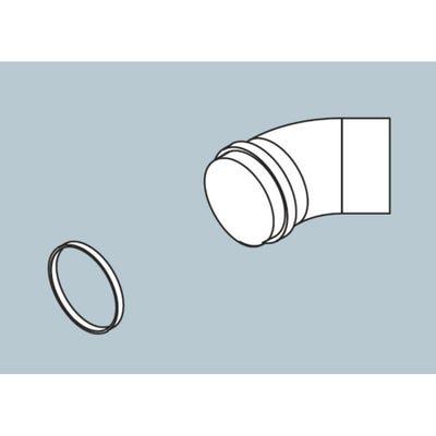 Biasi HE Twin Horizontal Flue Elbow - 45° Bend x 80mm Diameter