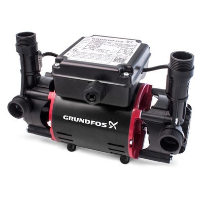 Grundfos 2.0 Bar Positive Twin Impeller Regenerative Shower Pump 98950217