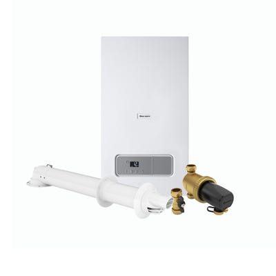Glow Worm Energy 25KW Combi Boiler Pack with Horizontal Flue & 22MM Filter