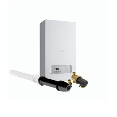 Glow Worm Energy 25KW Combi Boiler Pack with Vertical Flue & 22MM Filter