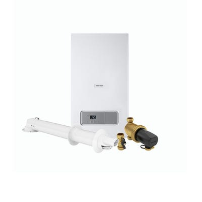 Glow Worm Energy 30KW Combi Boiler Pack with Horizontal Flue & 22MM Filter