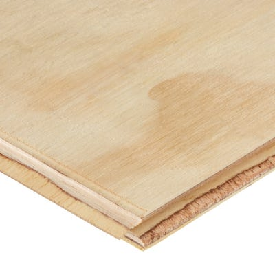 18mm Softwood Plywood Tongue & Groove Flooring 2400mm x 600mm (8' x 2')