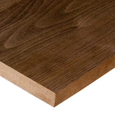 19mm American Black Walnut Veneered MDF Board A/B Grade 2440mm x 1220mm (8' x 4')