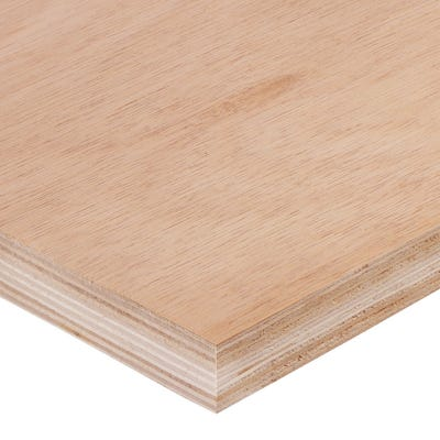 25mm Hardwood External Grade Plywood B/BB 2440mm x 1220mm (8' x 4') Pack of 36