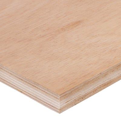 25mm Hardwood External Grade Plywood B/BB 2440mm x 1220mm (8' x 4') Pack of 36