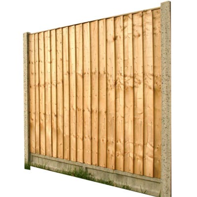 5' x 6' Grange Standard Feather Edge Treated Timber Fence Panel