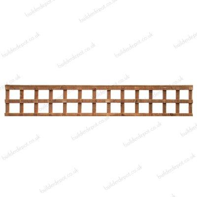 1' x 6' Grange Heavy Duty Treated Timber Square Trellis Golden