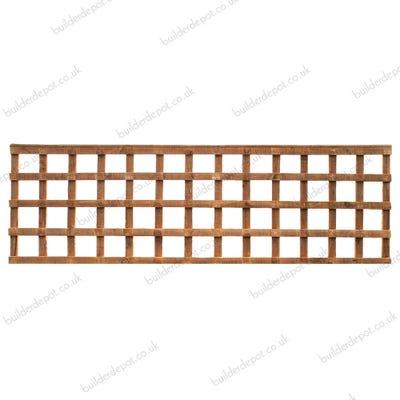 2' x 6' Grange Heavy Duty Treated Timber Square Trellis Golden