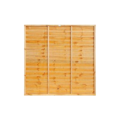 Grange Super Waney Treated Timber Fence Panel 6' x 6'
