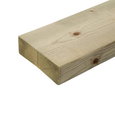47mm x 150mm Structural Graded C24 Treated Carcassing Timber 4200mm (6'' x 2'')