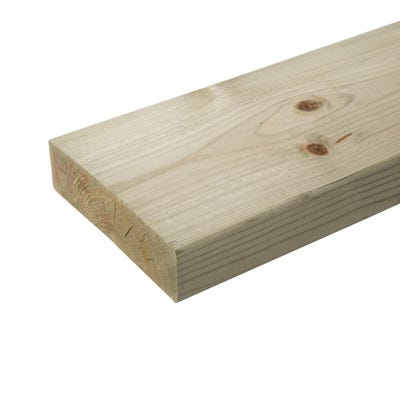 47mm x 175mm Structural Graded C24 Treated Carcassing Timber 4200mm (7'' x 2'')