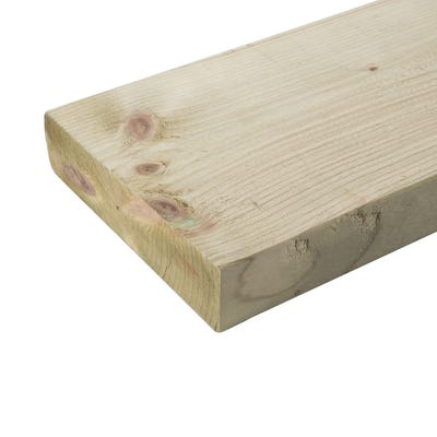 47mm x 200mm Structural Graded C24 Treated Carcassing Timber 4200mm (8'' x 2'')