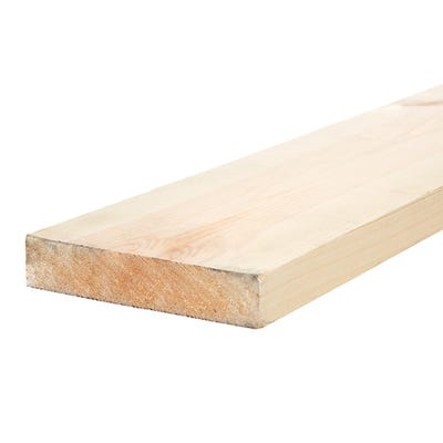32mm x 150mm Planed Softwood PAR Timber (6'' x 1.25'') Finish 27mm x 144mm