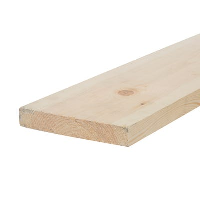 32mm x 175mm Planed Softwood PAR Timber (7'' x 1.25'') Finish 27mm x 169mm