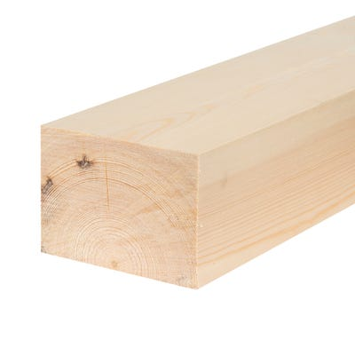 75mm x 100mm Planed Softwood PAR Timber (4'' x 3'') Finish 69mm x 94mm