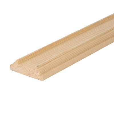 25mm x 75mm Softwood Rebated Crown Baserail